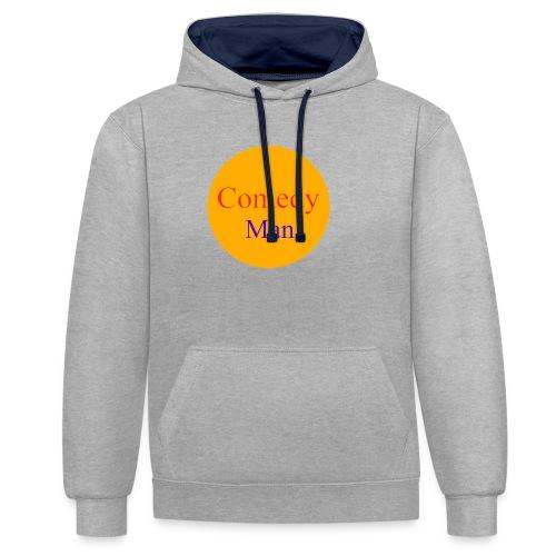 comedy man logo - Contrast hoodie