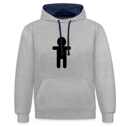Picto Homme - Noir - Sweat-shirt contraste