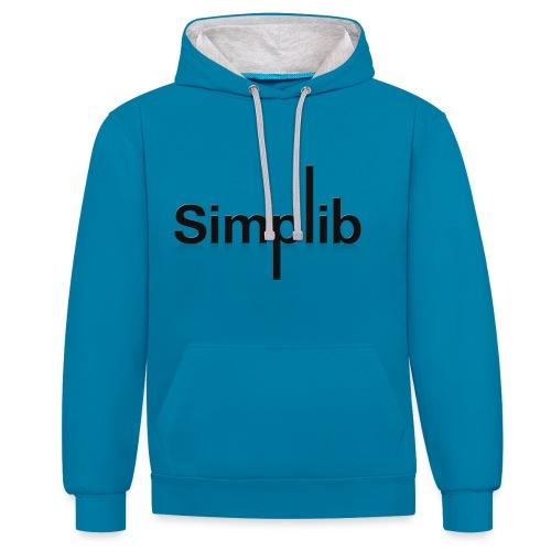 Logo-Simplib-ok - Bluza z kapturem z kontrastowymi elementami