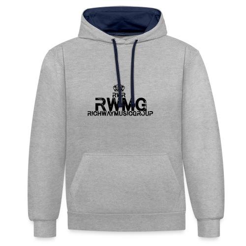 RWMG_Black 2 - Contrast hoodie