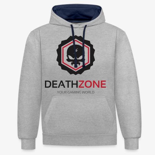 DeathZone Logo Avatar - Bluza z kapturem z kontrastowymi elementami