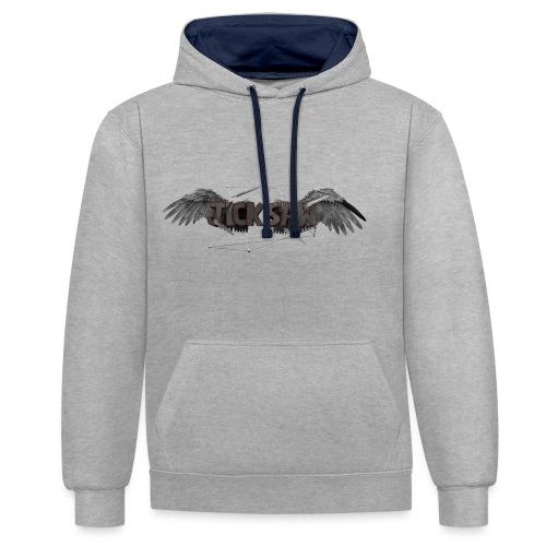 Jicksaw Flügel - Merch - Kontrast-Hoodie