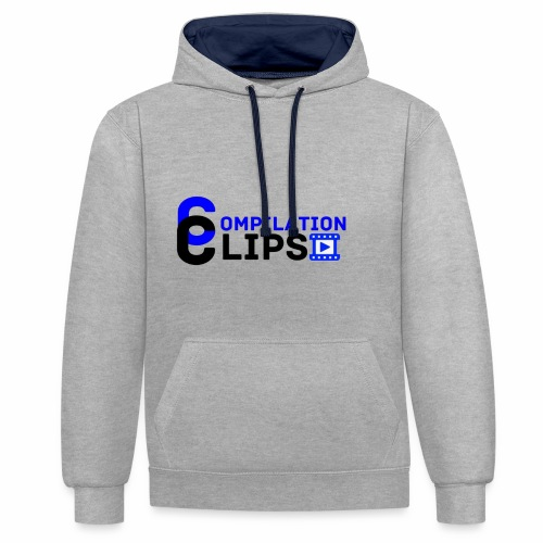 Official CompilationClips - Contrast Colour Hoodie