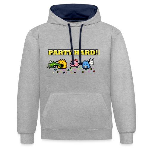 Party Hard! - Kontrast-Hoodie