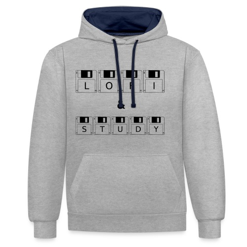 LoFi and Study - Contrast Colour Hoodie