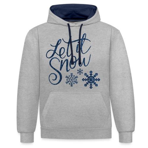 Let il snow Noël New shape fane design vintage - Sweat-shirt contraste