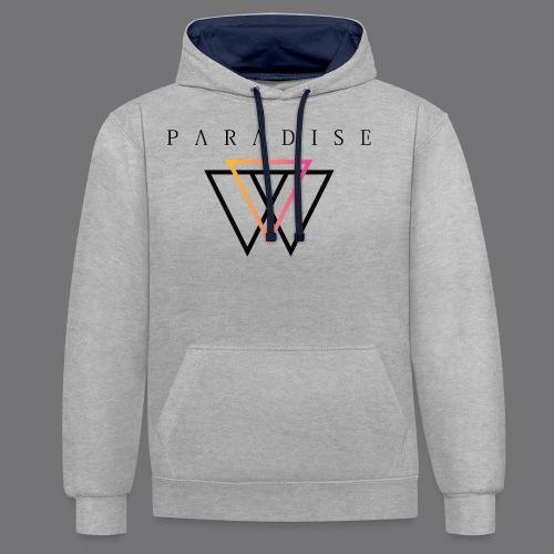 PARADISE VANUA Tee Shirts - Contrast Colour Hoodie