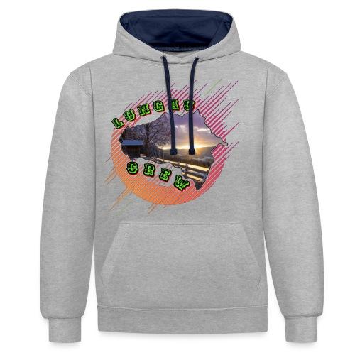 LungauCrew Merchandise - Kontrast-Hoodie