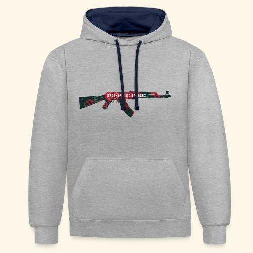 AK47 Brotherhood Barbers - Contrast Colour Hoodie
