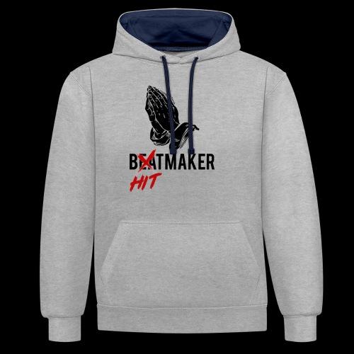 HitMaker Noir - Sweat-shirt contraste