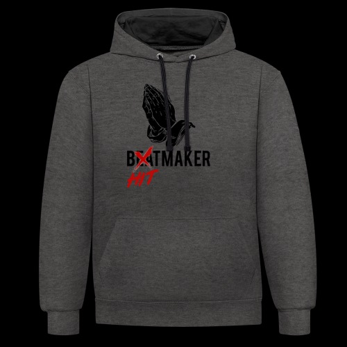 HitMaker Noir - Sweat-shirt contraste