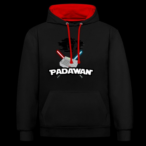 Padawan Noir - Sweat-shirt contraste