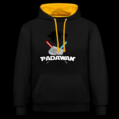 Padawan Noir - Sweat-shirt contraste