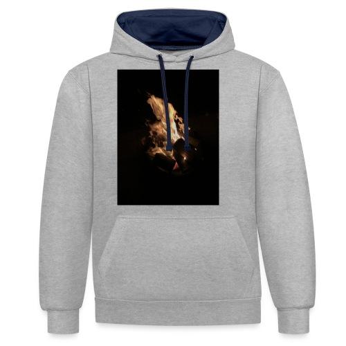 Bonfire Print - Contrast Colour Hoodie