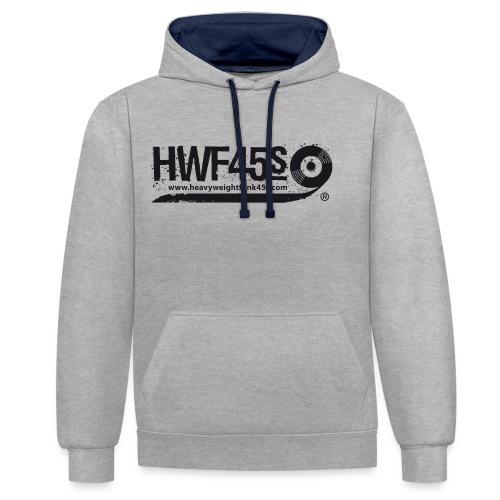 HWF45S Retro Logo Black - Contrast Colour Hoodie