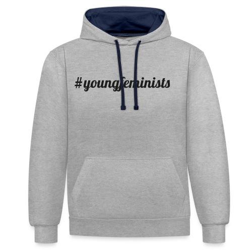 Young Feminists Schwarz - Kontrast-Hoodie