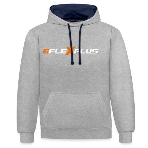 eFlexPlus inverted - Contrast Colour Hoodie