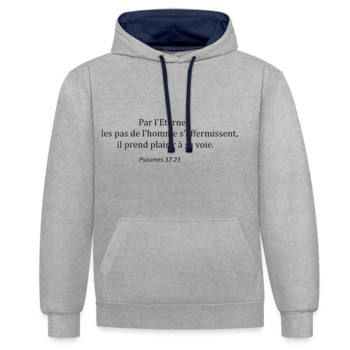 psaumes 37.23 - Sweat-shirt contraste