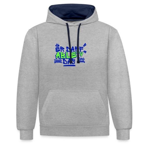 AbleTV Grafitti Logo Marken Shirt (Er Darf Das) - Kontrast-Hoodie