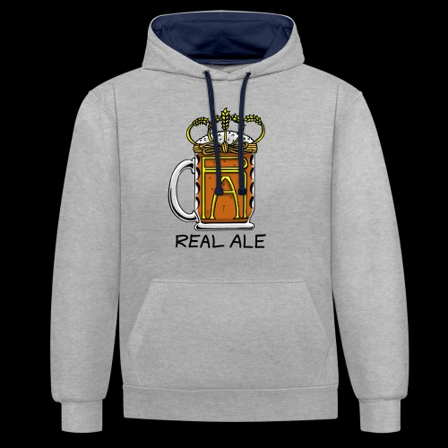 Real Ale - Contrast Colour Hoodie