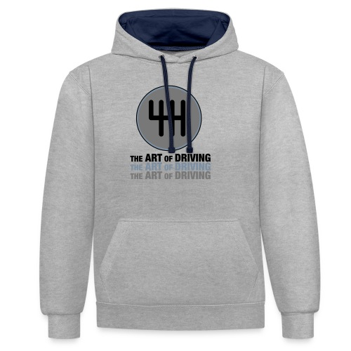 The Art of Driving Gear Nob - Contrast Colour Hoodie