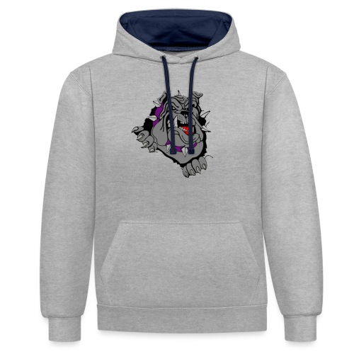 bulldog - Contrast hoodie
