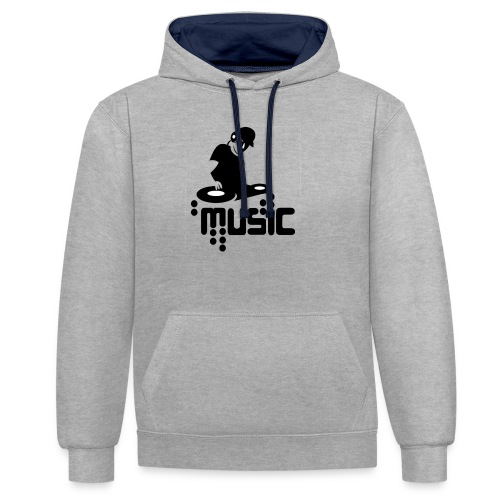 Disco music - Sweat-shirt contraste