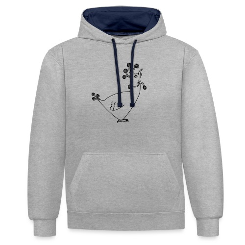 Cosmic Chicken - Contrast Colour Hoodie