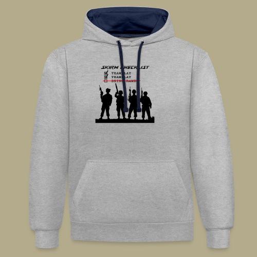 Skirm Checklist - Contrast hoodie