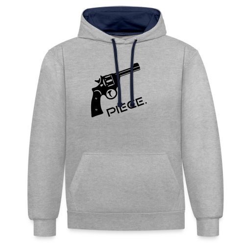 Waffe - Piece - Kontrast-Hoodie