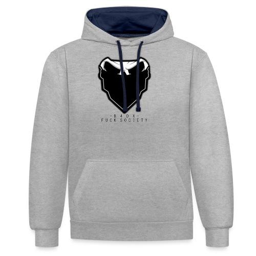 shirtlogofucksoc png - Kontrast-Hoodie