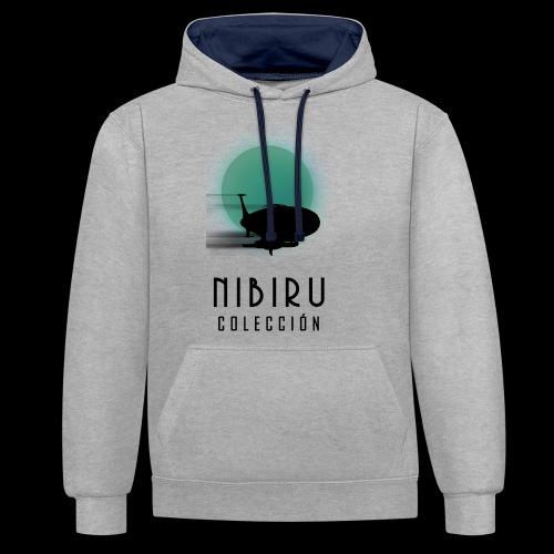 NibiruLogo - Sudadera con capucha en contraste