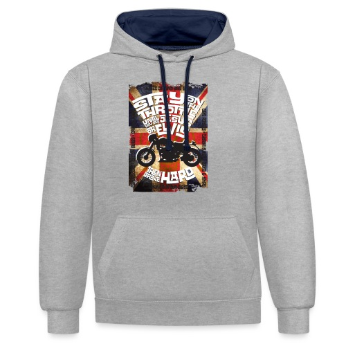 Kabes British Customs - Contrast Colour Hoodie