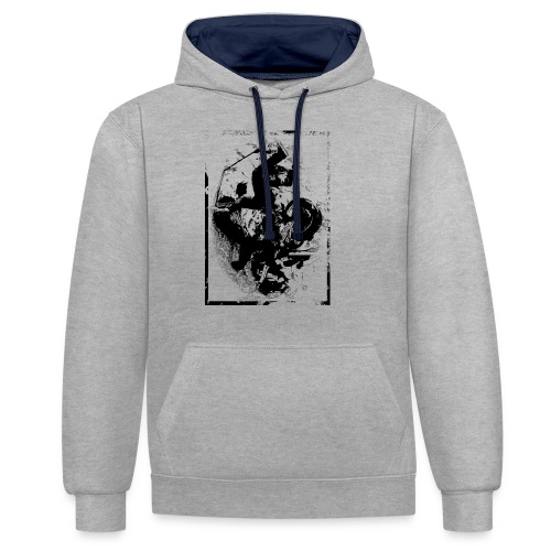 abstract4a - Contrast Colour Hoodie