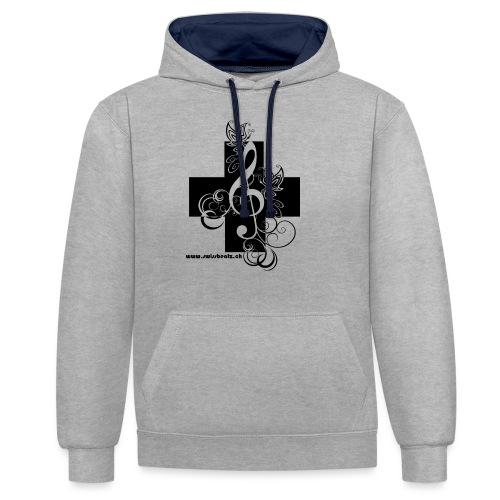 Swiss Beatz Logo non L - Kontrast-Hoodie