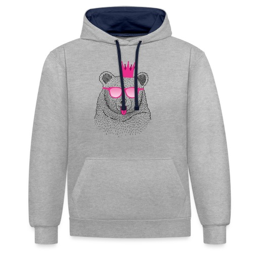 BABO pink Bär - Kontrast-Hoodie