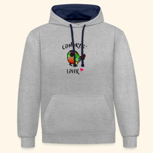 Conures' Lover: opaline - Sweat-shirt contraste