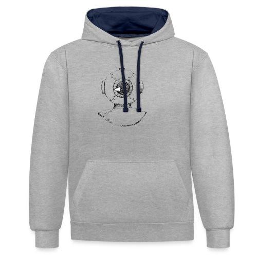 nautic eye - Contrast hoodie
