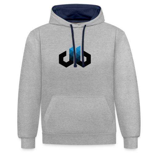 digitalbits Logo - Kontrast-Hoodie