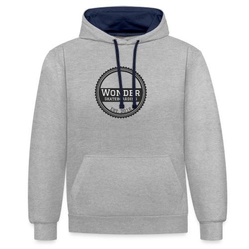 Wonder unisex-shirt round logo - Kontrast-hættetrøje