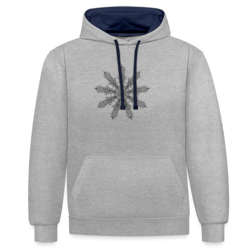 Magic Star Tribal #4 - Contrast Colour Hoodie