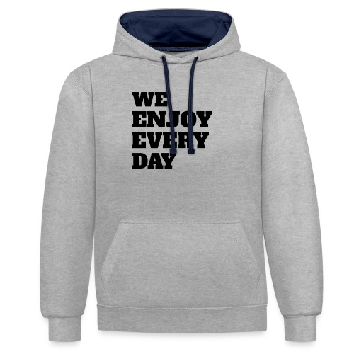 Enjoy - Sweat-shirt contraste