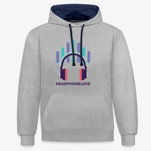 headphonelove - Kontrast-Hoodie