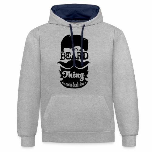 Beard Thing - Contrast hoodie