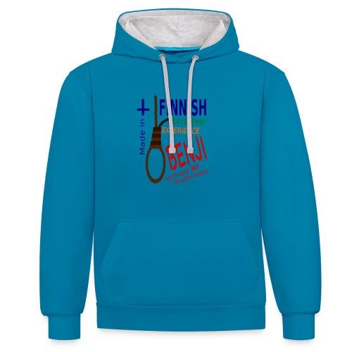 FINNISH-BENJI - Contrast Colour Hoodie