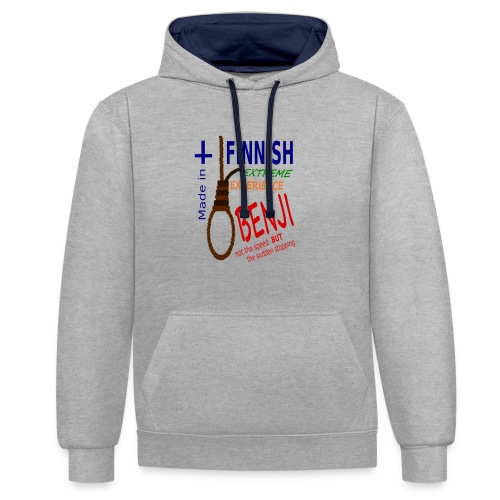 FINNISH-BENJI - Contrast Colour Hoodie