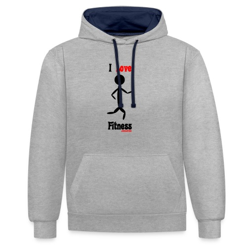 Fitness #FRASIMTIME - Felpa con cappuccio bicromatica