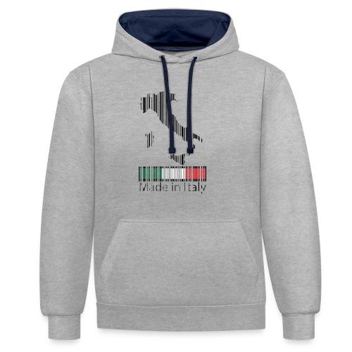 Made in Italy - Felpa con cappuccio bicromatica