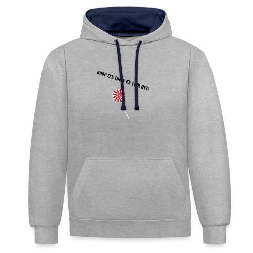 Kioop_een_lolly_en_vier_het - Contrast hoodie