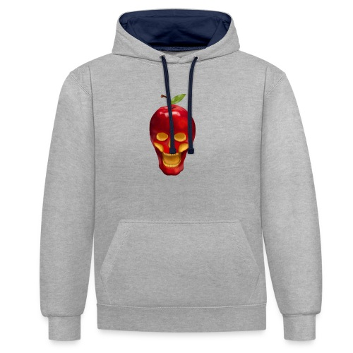Apple Skull - Kontrast-Hoodie